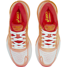asics Gel-Nimbus 21 Shoes Dame white/sun coral